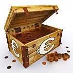 euro-chest-of-coins-shows-european-prosperity-and-economy-100246733