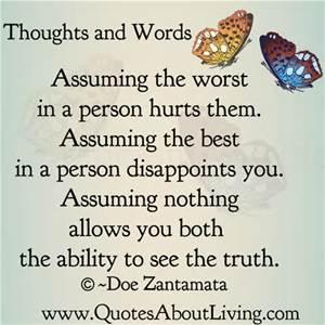 assuming